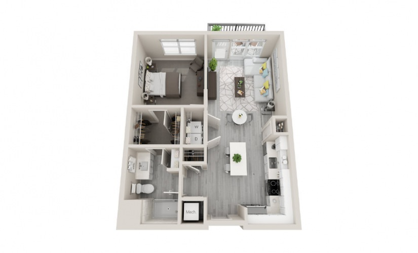 A06 - 1 Bedroom, 1 Bath 717 Sq Ft